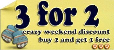 Crazy Winter Weekend Discount